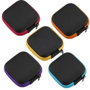 Portable Travel Small Earphone Storage EVA Case Carry Pouch Bag Data Cables Box