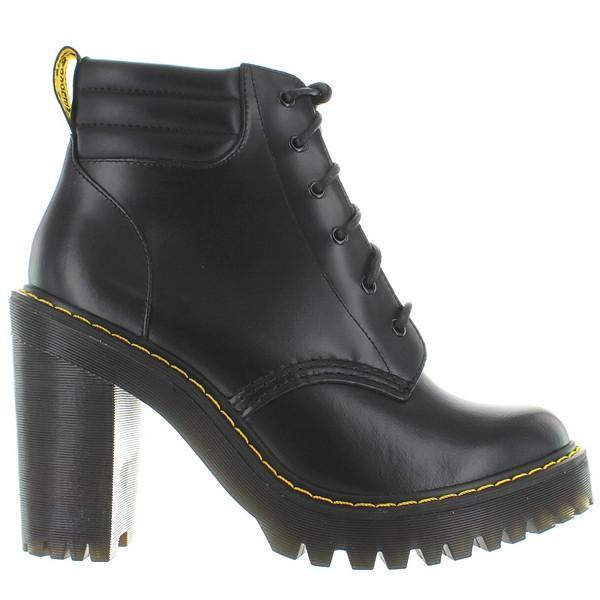 Get the Deal: Chunky Heel Boots Black Dr. Martens Boots