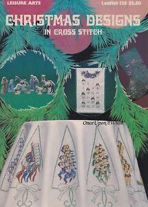 Christmas-Designs-Cross-Stitch-Pattern-Booklet-LA-128-Nativity-Stockings-amp-More