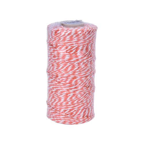 100Yard Cotton Bakers Twine Stripe Line Wedding Party Gift Craft Supply Ev