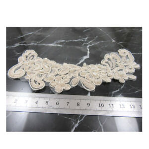 1-PC-DECORATIVE-BEADED-LACE-APPLIQUE-SEWING-CRAFTS-160MM-X-60MM-H3758