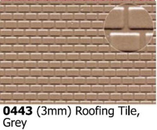 Slaters 0443 Roofing Tile 3mm Grey Plastikard Sheet