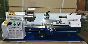 Mini-Lathe-Brand-New-7x14-Machine-with-DRO-amp-TWO-4-034-Chucks-IMPERIAL