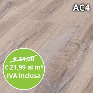 Pavimento in Laminato Rovere Sbiancato Confezione Da 2.48mq | 8 mm ...