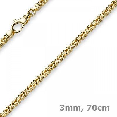 3mm Kette Halskette Königskette aus 585 Gold Gelbgold, 70cm, Herren, Goldkette