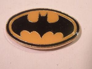 Batman-Logo-1987-Cloisonne-Enamel-Metal-Pinback-NEW-NOS-Vintage-Mint