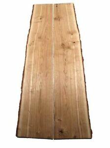 2x Oak Board Rustic Wood Oak 115x20/25cm 23mm