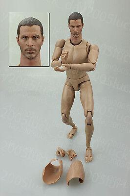 Very HOT Caucasian Male Narrow Shoulder Nude Body w/ Head Figure B023