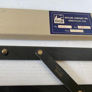 """Vintage Mayline Naval Navigation Drafting Parallel Ruler 5501 USA 15"""""""