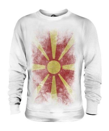 Mazedonien Verblichen Flag Unisex Pullover Top Makedonija Fußball Mazedonische
