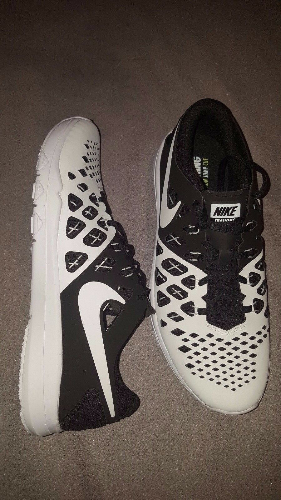 NIKE TRAIN SPEED 4 TB TRAINING Chaussures Hommes US SIZE 13 Noir blanc NEW 833259 011