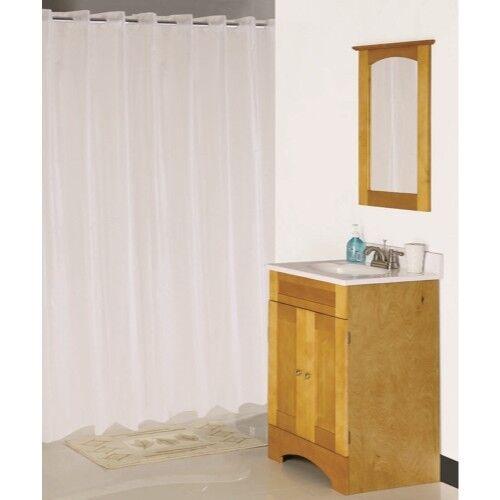 """White Homebasix XG-02-WH Hookless Waterproof Shower Curtain,70/""""X 72/"""",Vinyl"""