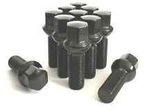 (20) 14x1.5 BALL SEAT BLACK WHEEL LUG BOLTS 28MM SHANK OE MOST MERCEDES VW AUDI