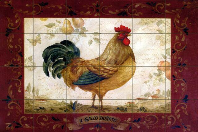 Rooster Kitchen Mural Backsplash Bath