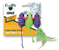 Ourpet's Three Twined Mice Cat Toy 3pk (free Shipping In Usa)
