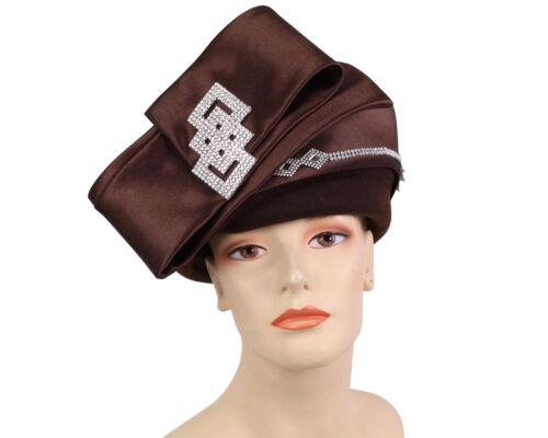 Women/'s Wool Pill-box Church Hats Felt 80441 Red Brown