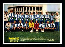 Hertha BSC Berlin Mannschaftskarte 1975-76 TOP