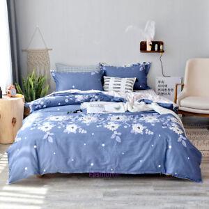 Floral Blue Single/Double/Queen/King Bed Doona/Duvet/Quilt Cover Set 100% Cotton