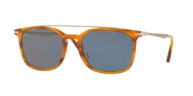 e0a2130e36d52 Persol Unisex Sunglasses PO3173S 960 56 Amber Havana Frame Grey Mirrored  Lens