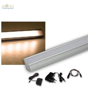 Dettagli su 4er Set LED Listello Leggero Angolare in Alluminio Bianco Caldo  + Trasformatore