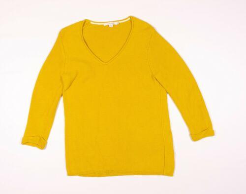 Boden Marigold Yellow Wool Cotton Knit Sweater Siz