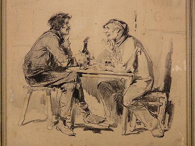 Charcoal Gustave Courbet Carolus Duran 1829-1880 Modest Clément Auguste Andrieux