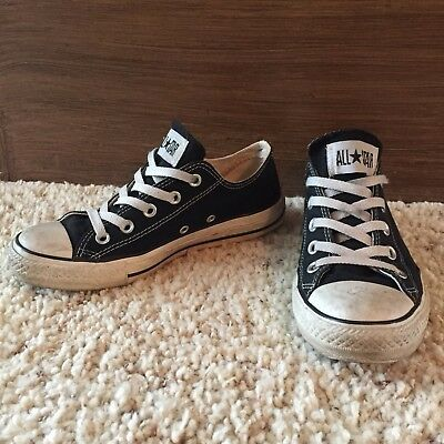Converse Chuck Taylor All Star Low Top Canvas Black Lace Up Slip On Sneakers 6 | eBay