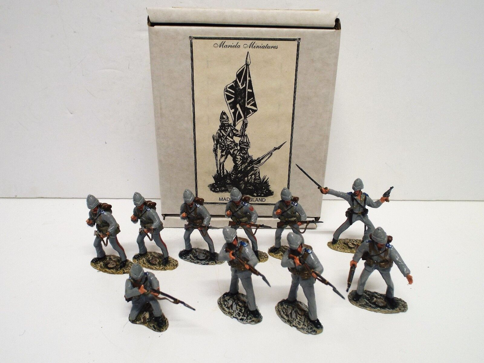 MARIELA MINIATURES 10 X 1884 ROYAL MARINES LIGHT INFANTRY SET BOXED. (BS2336)