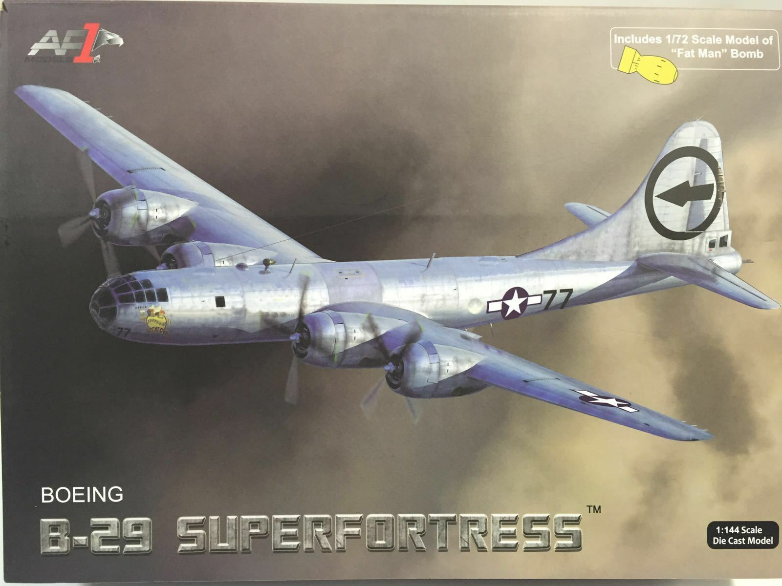 Air force 1 af1-0112c boeing b - 29 superfortress mit bombe - dicke, 1 144