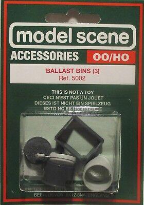 Pack 3 Modelscene 5002 OO Gauge Ballast Bins