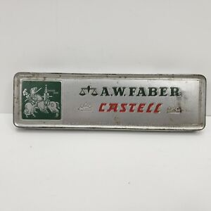 Vintage-A-W-Faber-Castell-Drawing-Pencils-Metal-Tin-9000-3H