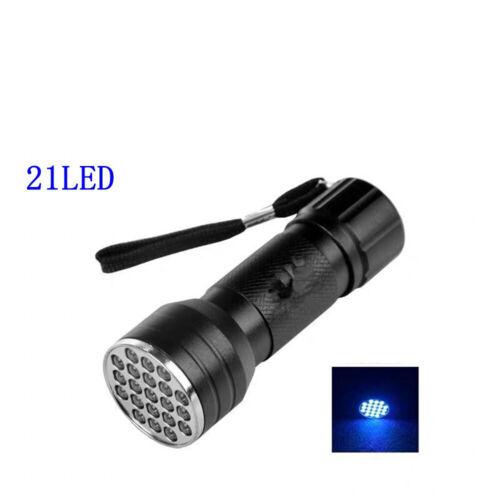 HVAC Leak Detector A//C Fluid Gas UV Black Light/&Safety Glasses Detection 21LED
