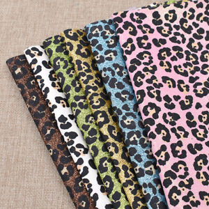 A4-Leopard-Printing-Glitter-Synthetic-Artificial-Leather-PU-Fabric-For-DIY-Craft