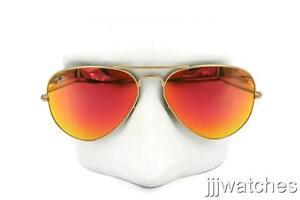 41719e8c041 New Ray-Ban Aviator Large Metal Orange Flash Sunglasses RB3025 112 ...