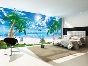 3D Jump Dolphin 577 Wallpaper Murals Wall Print Wallpaper Mural AJ WALL UK Lemon
