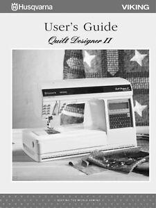 Husqvarna Viking Quilt Designer Ii User Owners Manual Ebay