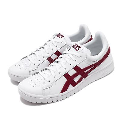 asics tiger gelptg white burgundy red men casual classic