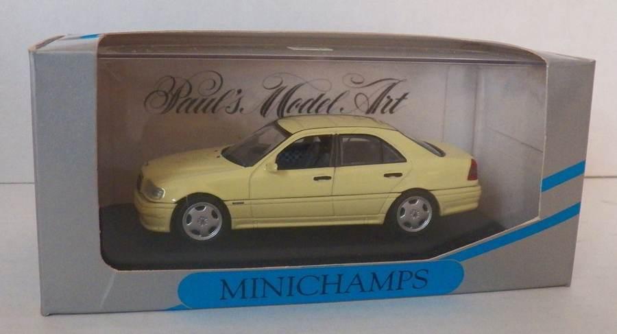MINICHAMPS 1 43 Light amarillo MERCEDES BENZ AMG C36 PAUL'S MODEL ART  New