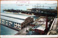 1910 Postcard: Harbor & Shipping Piers - Newport News, Virginia VA