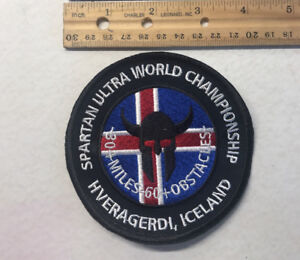 2017/2018 Spartan Ultra Championnat Du Monde-islande Patch-afficher Le Titre D'origine