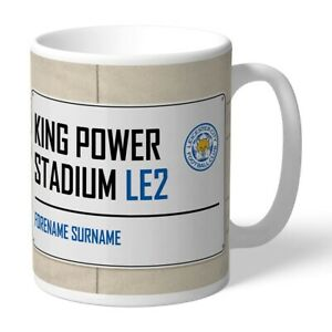 La Fourniture Leicester City F.c - Personalised Ceramic Mug (street Sign)