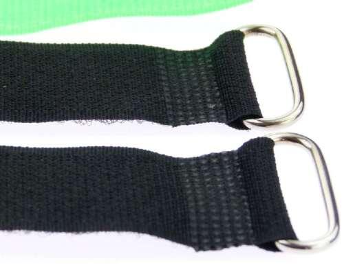 30x Klettband Kabelbinder Öse 30 cm x 25 mm neon grün Klettbänder Kabelklettband