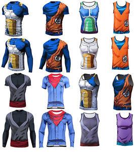 3d6da209b Dragon Ball Z Compression Workout T-shirt Cosplay Anime Cycling ...
