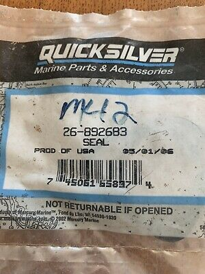 New Brand Mercury Mercruiser Quicksilver OEM Part # 26-892683 SEAL