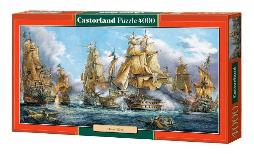 Castorland jigsaw puzzle 4000  - - Naval Battle  ships