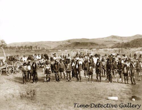Cheyenne Rvr Reservation,S Dakota-1890-Historic Photo Print Miniconjou Indians