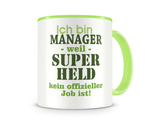 Samunshi Ich bin Manager Tasse Beruf Geschenk Kaffeetasse Teetasse Kaffeepott
