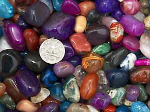3000 Carat Lots of Size #5 Tumbled Polished Gemstones + A FREE Faceted Gemstone