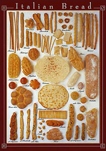 Image Is Loading ITALIAN BREAD 29 Varieties Bakery Kitchen Restaurant Wall
