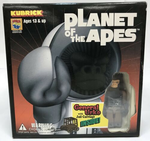 Planet of the Apes General Urko w// Jail Carriage Medicom Kubrick Figure New Rare